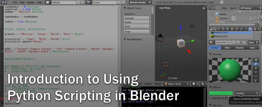 Blender 2. 67 tutorial basic python script youtube.