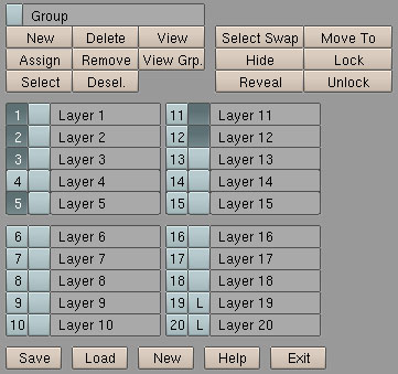 Layer Manager's GUI