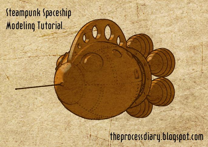 Steampunk Spaceship Modeling Tutorial - BlenderNation