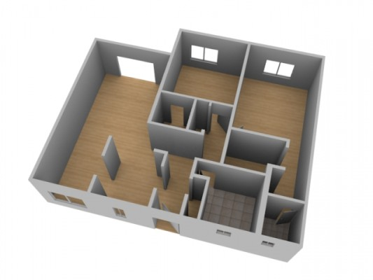 Create a 3d floor plan model from an architectural for Make a 3d room