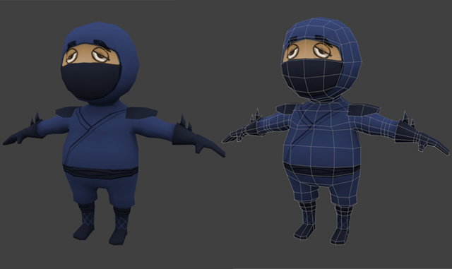 Game Character Modeling In Blender : Creating a low poly ninja game character blendernation
