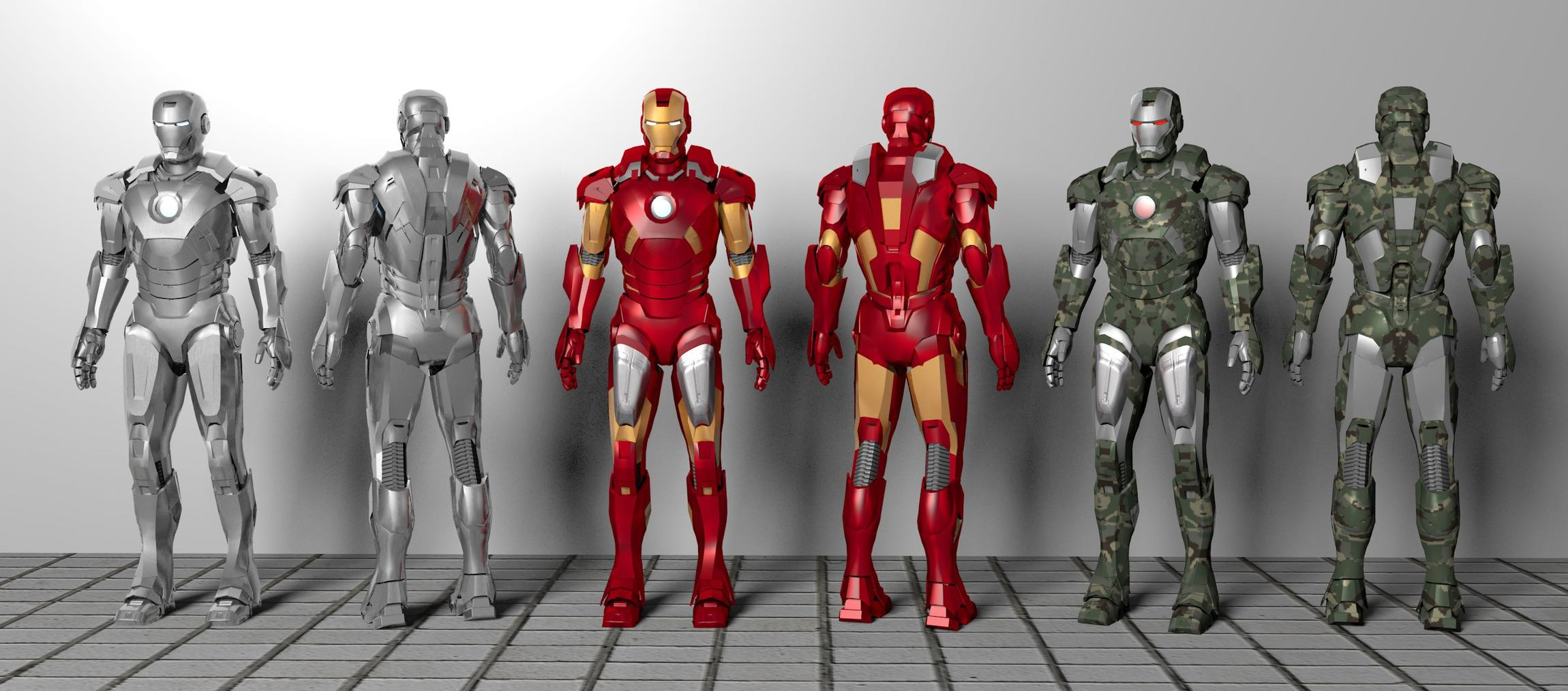 Model Download: Iron Man Mark 7 Armors