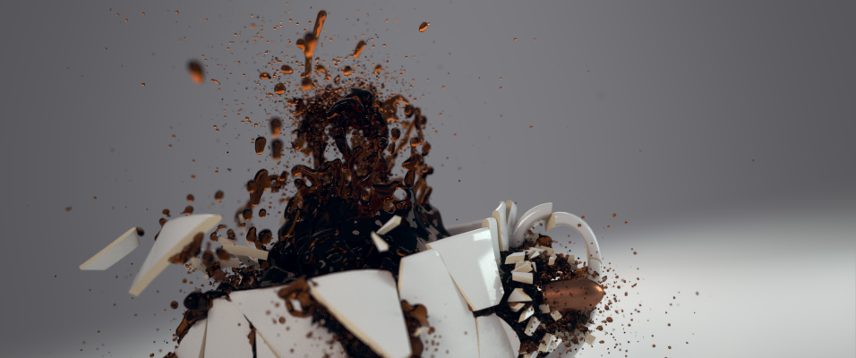 Shattering A Coffee Cup With Cell Fracture And Fluids