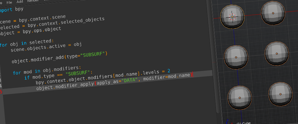 Tutorial: Automating Tasks in Blender with Python Scripting