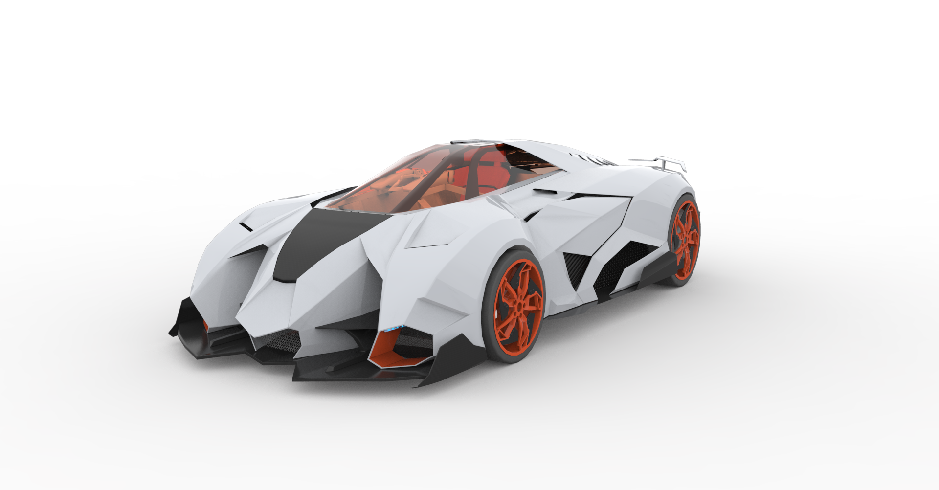 Model Download Lamborghini Egoista Concept Blendernation
