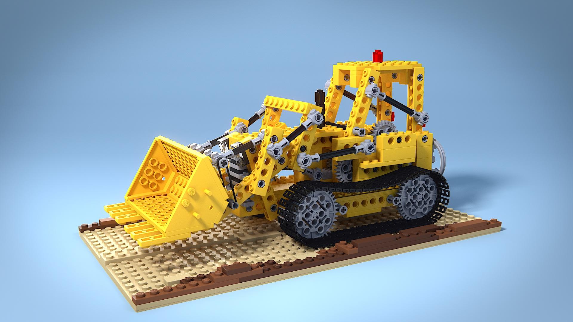 Model Download: Lego 856 Bulldozer - BlenderNation