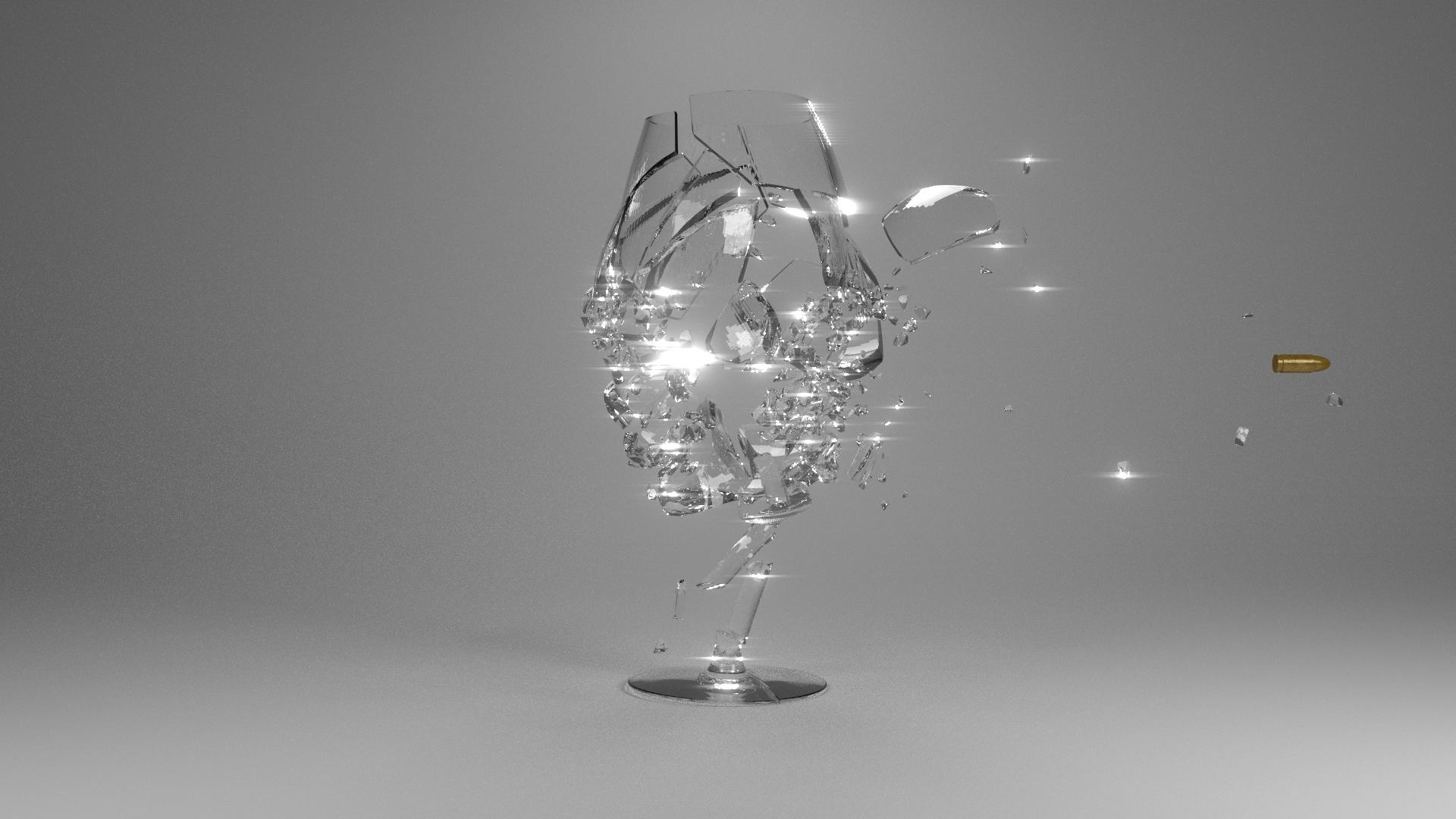Blender Breaking Glass