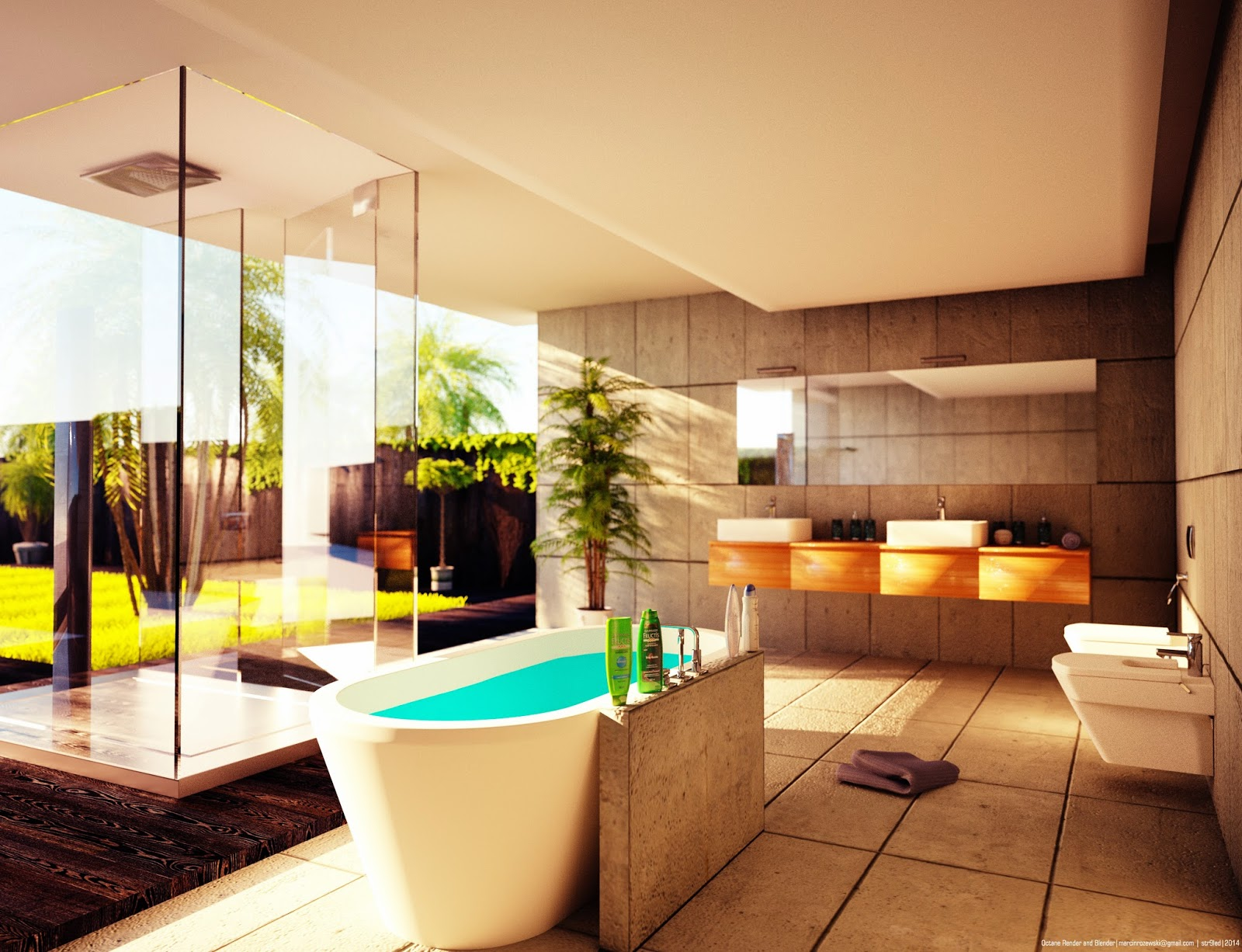 Bathroom Architectural Rendering - BlenderNation