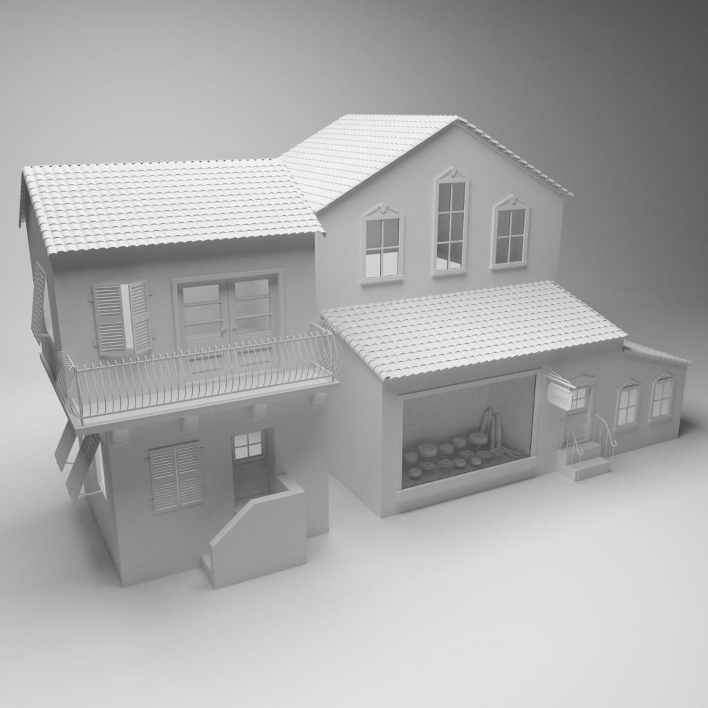 Model Download House And Bakery Blendernation