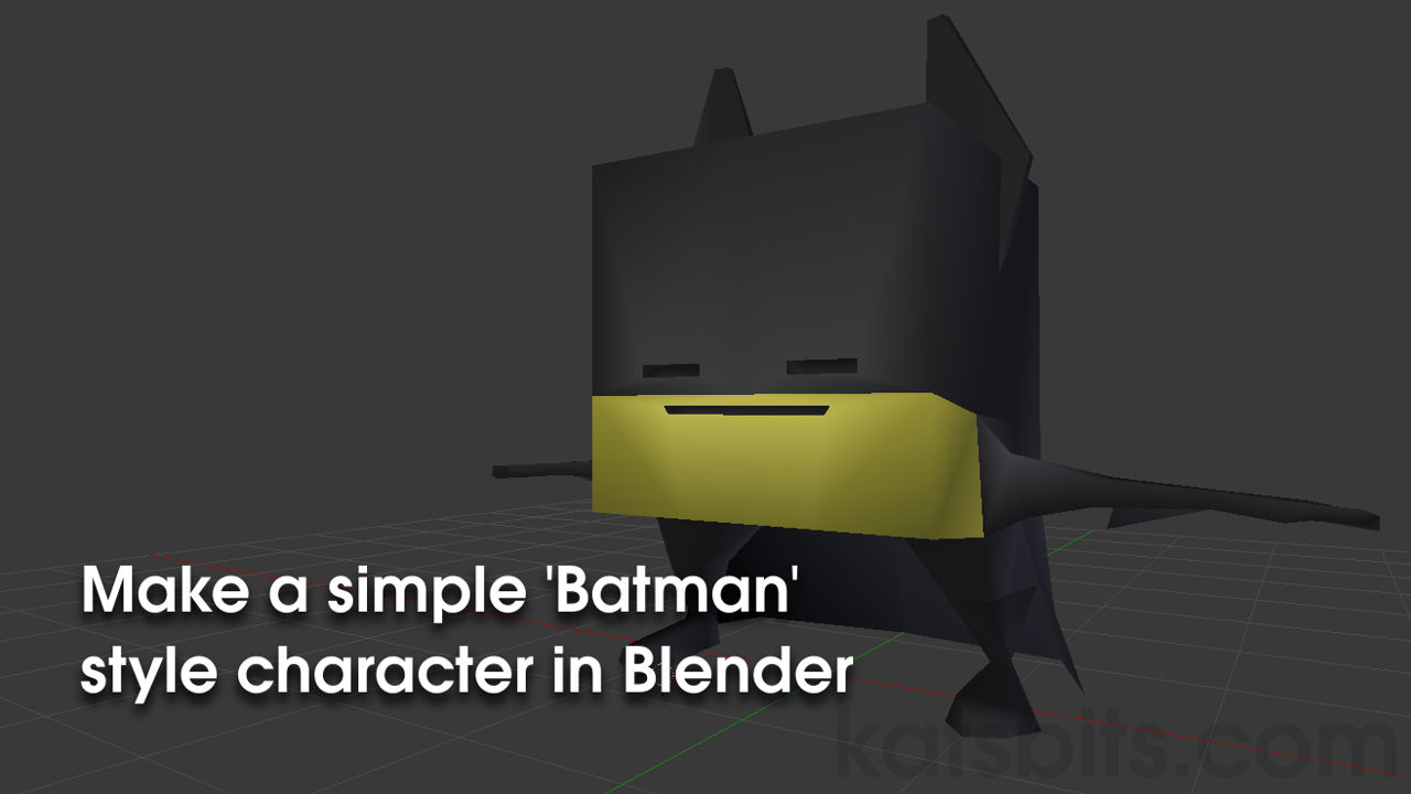 Making a simple batman style character blendernation making a simple batman style character baditri Image collections