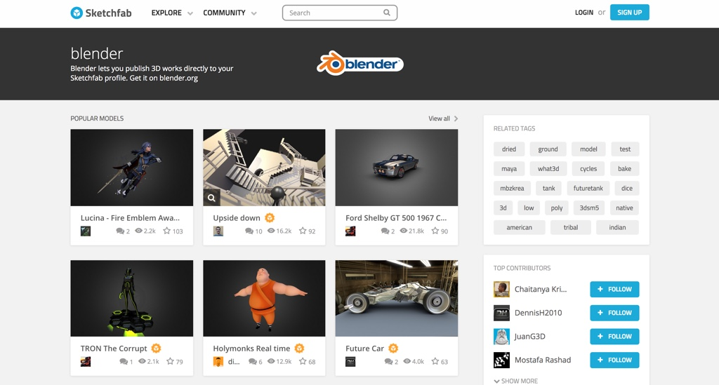 New Blender gallery on Sketchfab - BlenderNation