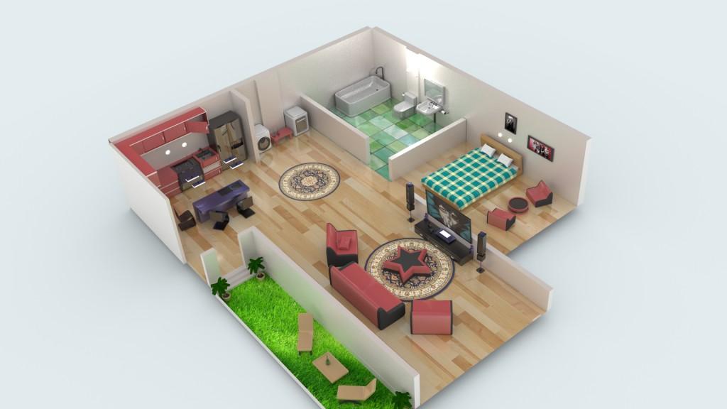 Model Download Miniature House Blendernation