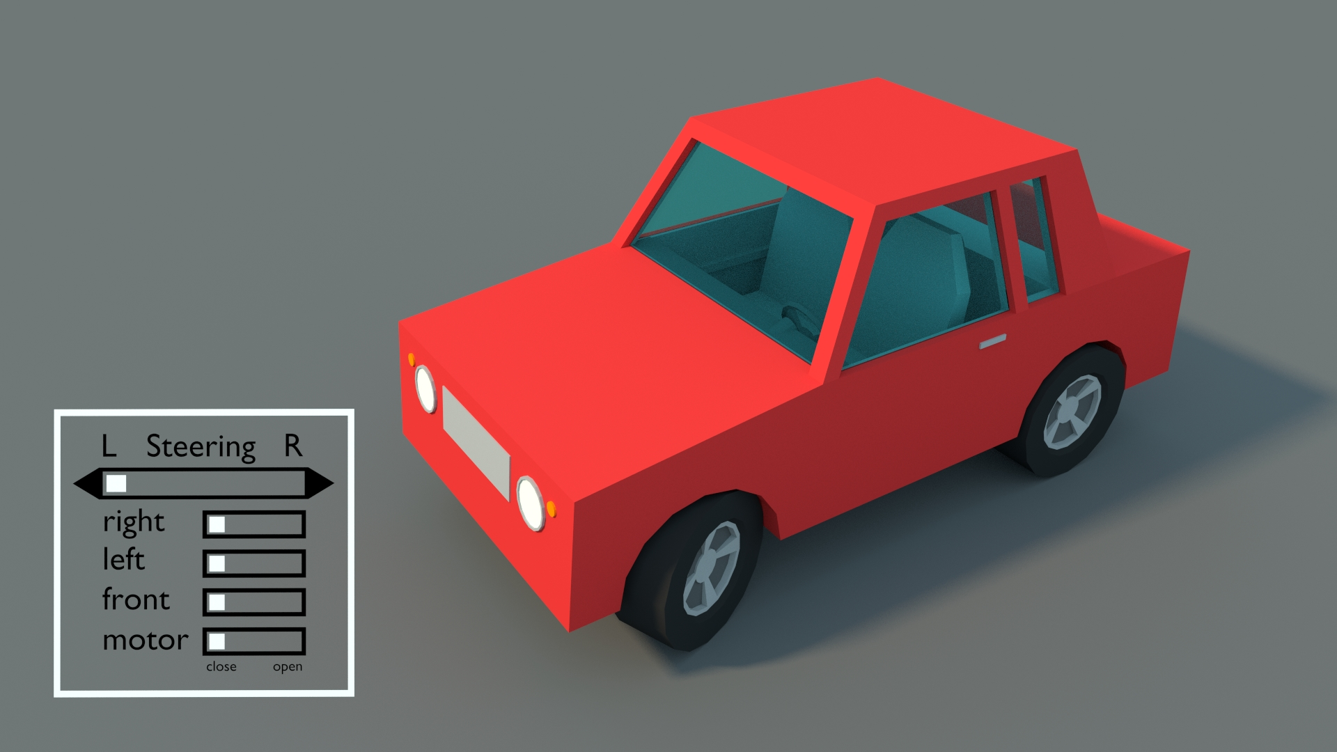 Model Download Rigged Cartoon Car Blendernation