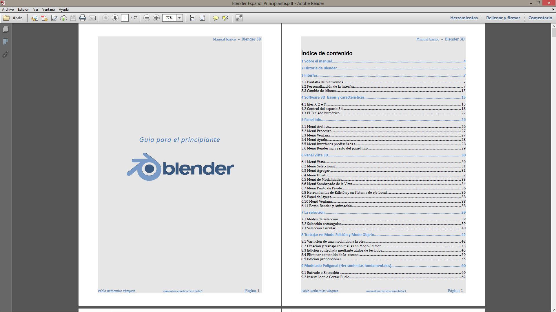Free Spanish Blender e-book - BlenderNation