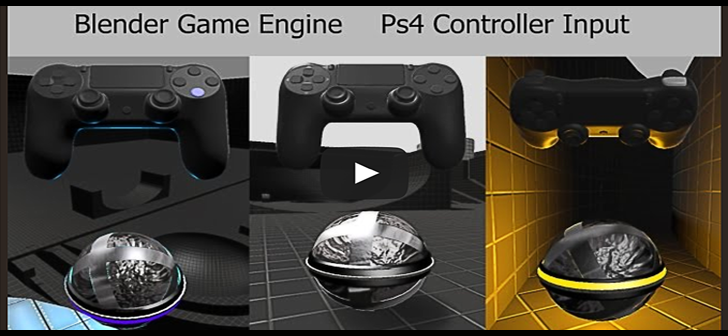 Using Ps4 Controller in the Blender Game Engine (download