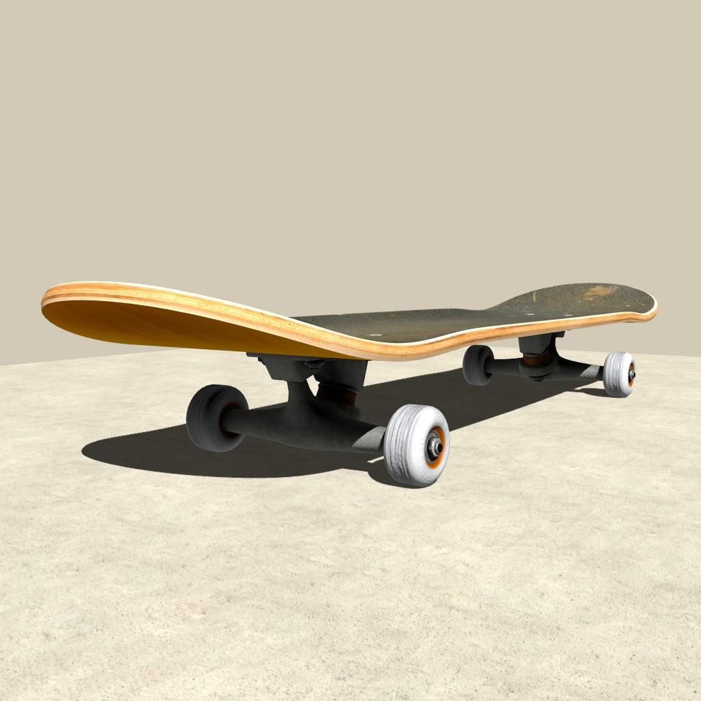 Model download fully rigged skateboard blendernation - Skateboard mobel ...