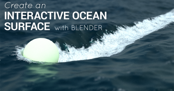 interactive 3D ocean with dynamic paint in Blender