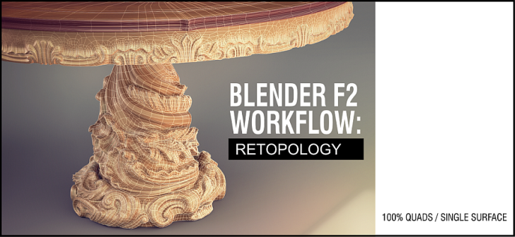 3D Retopology with free tools: Blender F2 Add on demo