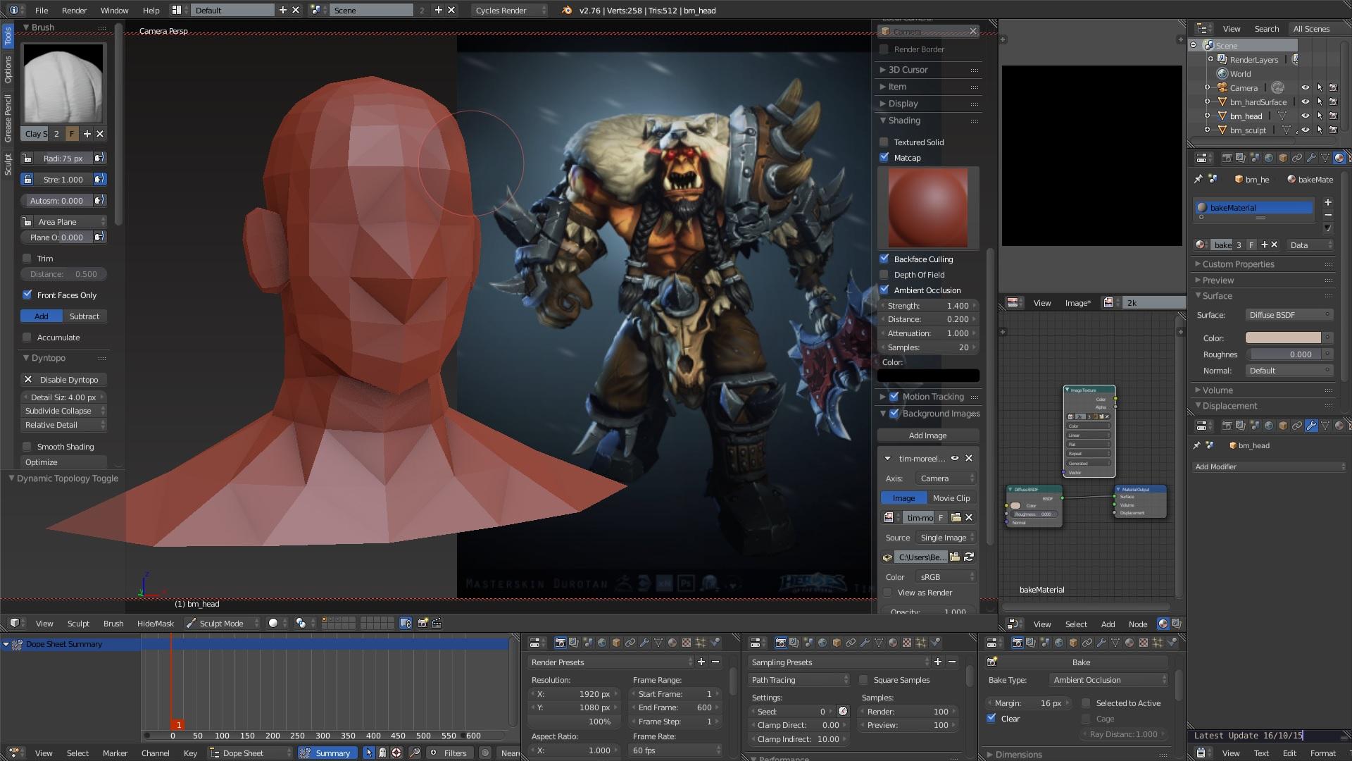 Blender Character Modeling 10 Of 10 : Dark blender official thread optimised for sculpting