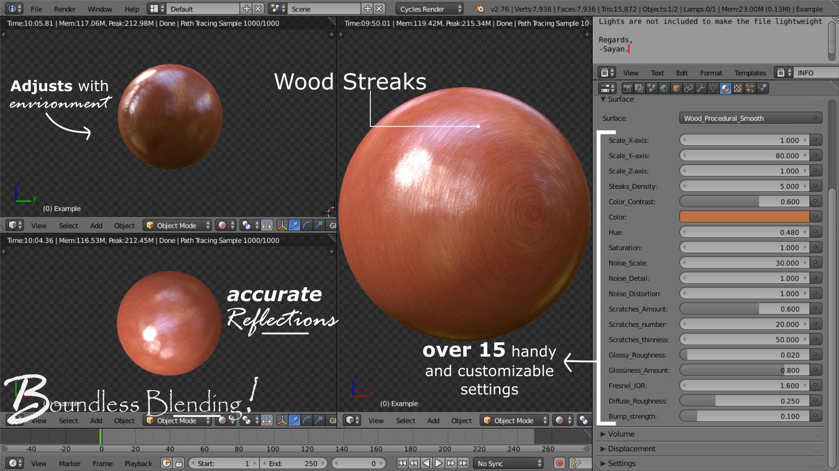 Download: Free Procedural Wood Shader - BlenderNation