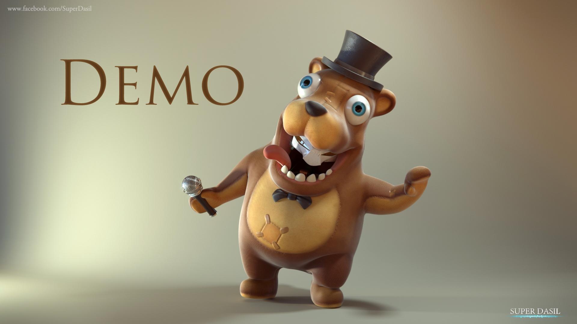 Demo Rig 3D Freddy Fazbear - BlenderNation