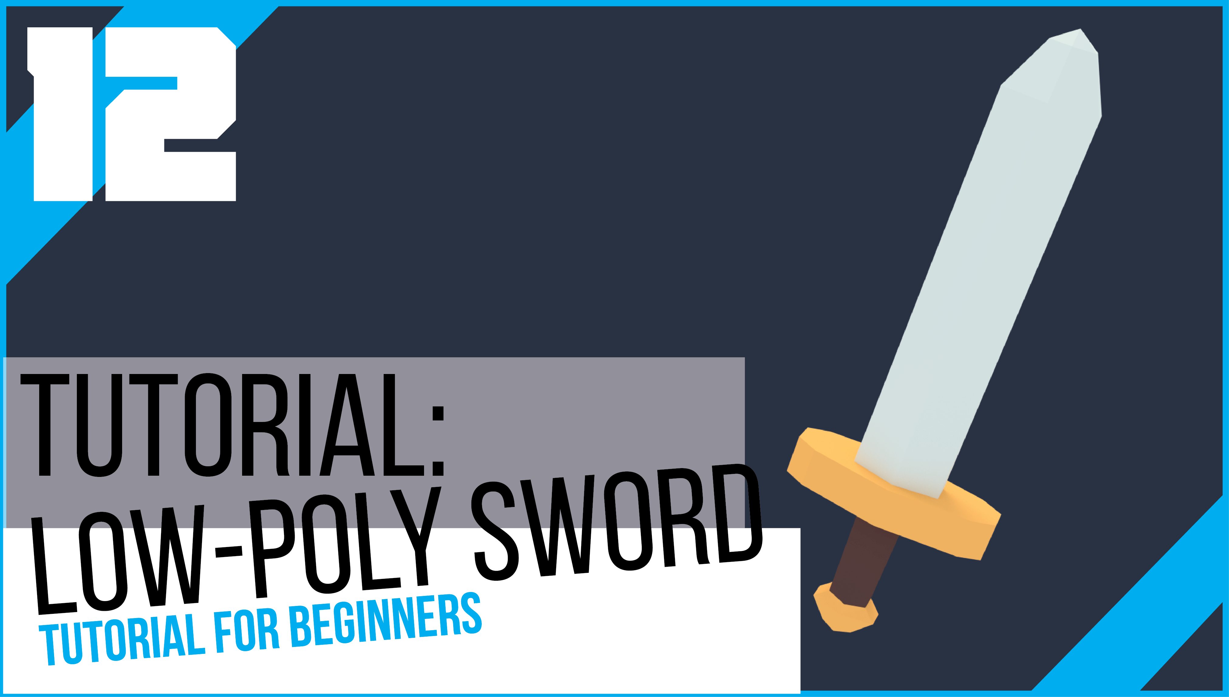 Blender tutorial low poly sword beginners blendernation blender tutorial low poly sword beginners baditri Image collections