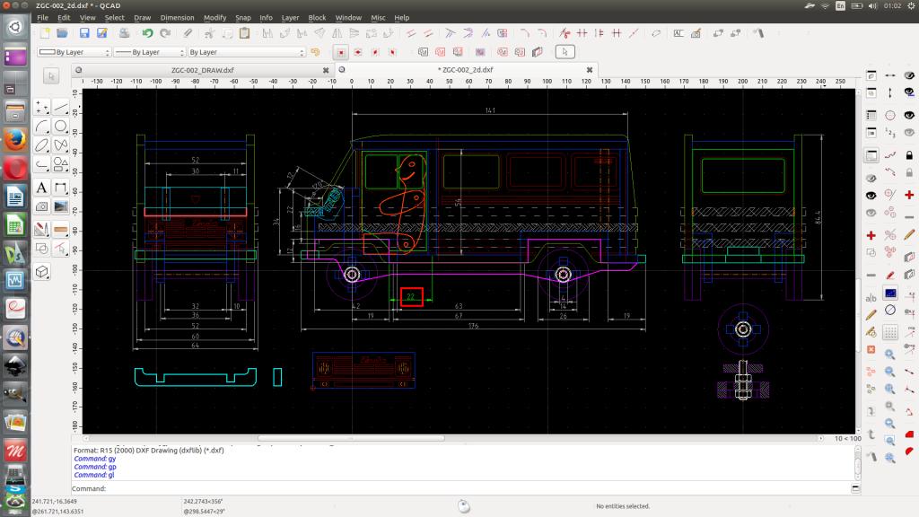 QCAD main workfile.