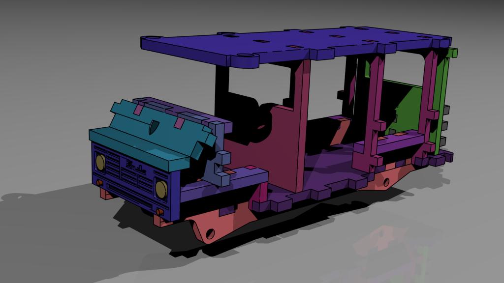 Blender3d technical render