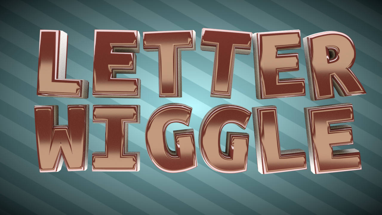 Animate individual letters using the Animation Nodes addon