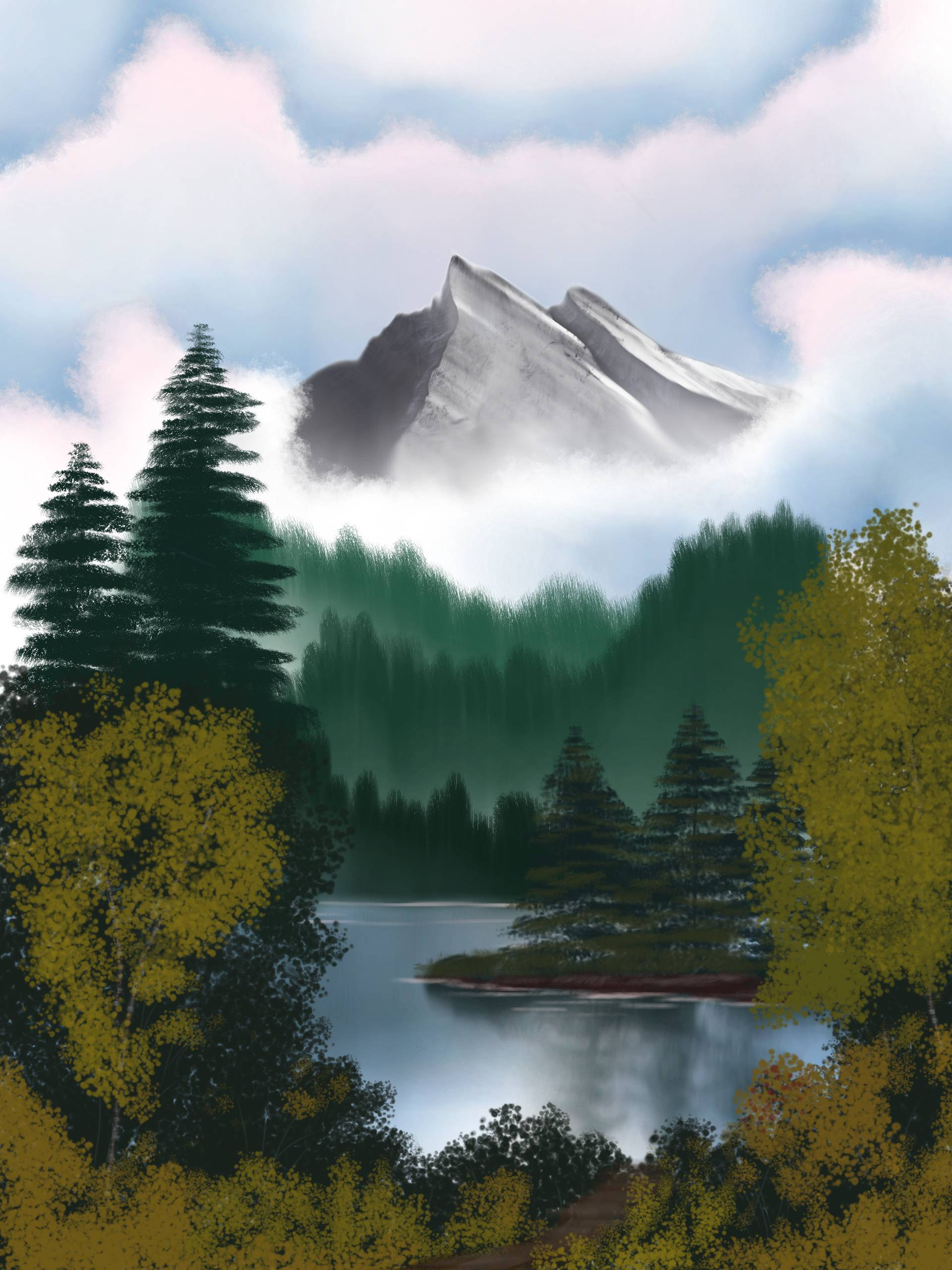 learn krita with bob ross: an analog to digital conversion