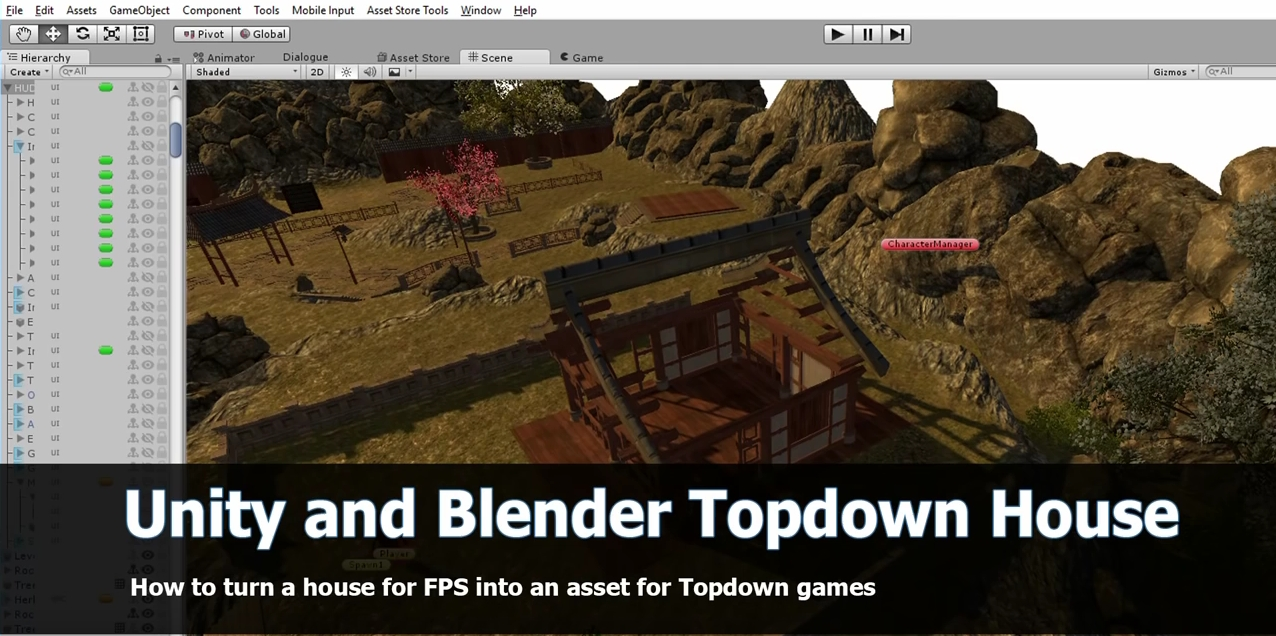 Create top down game assets with Blender