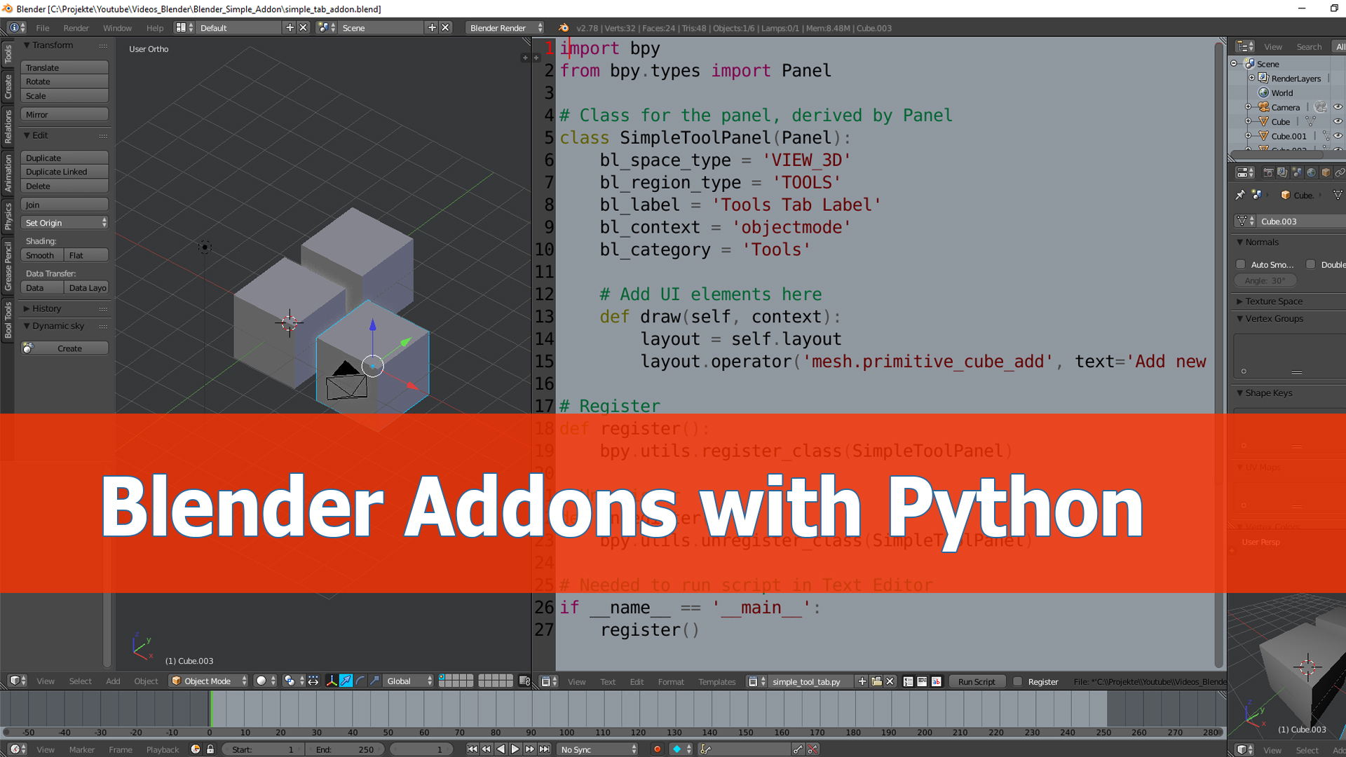 Blender addon programming tutorial - BlenderNation