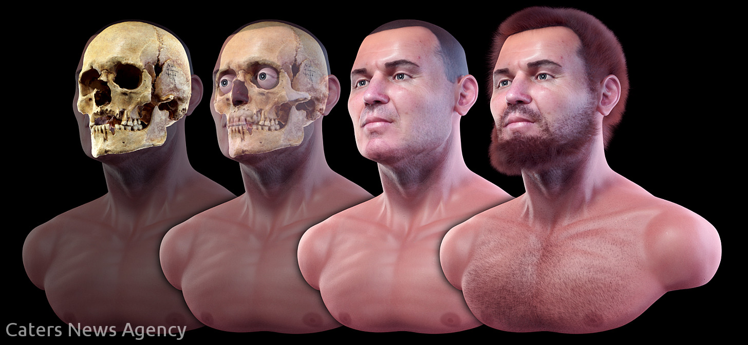 """Face of a Czech """"vampire"""" is reconstructed with Blender"""
