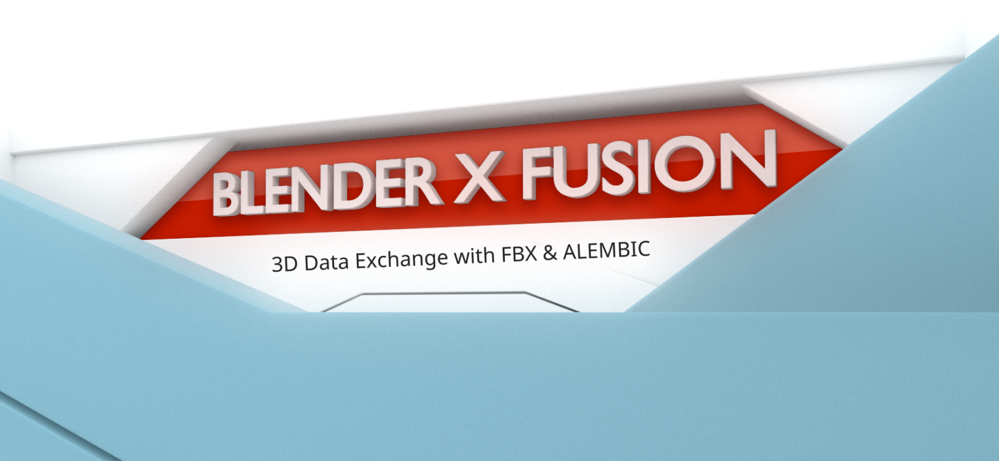 How to export Blender models to Fusion with FBX and Alembic