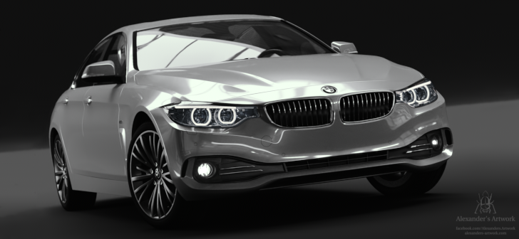 bmw 4 series gran coup luxury line blendernation. Black Bedroom Furniture Sets. Home Design Ideas