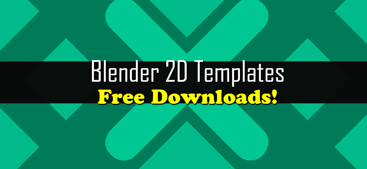 blender 2d intro templates free downloads blendernation