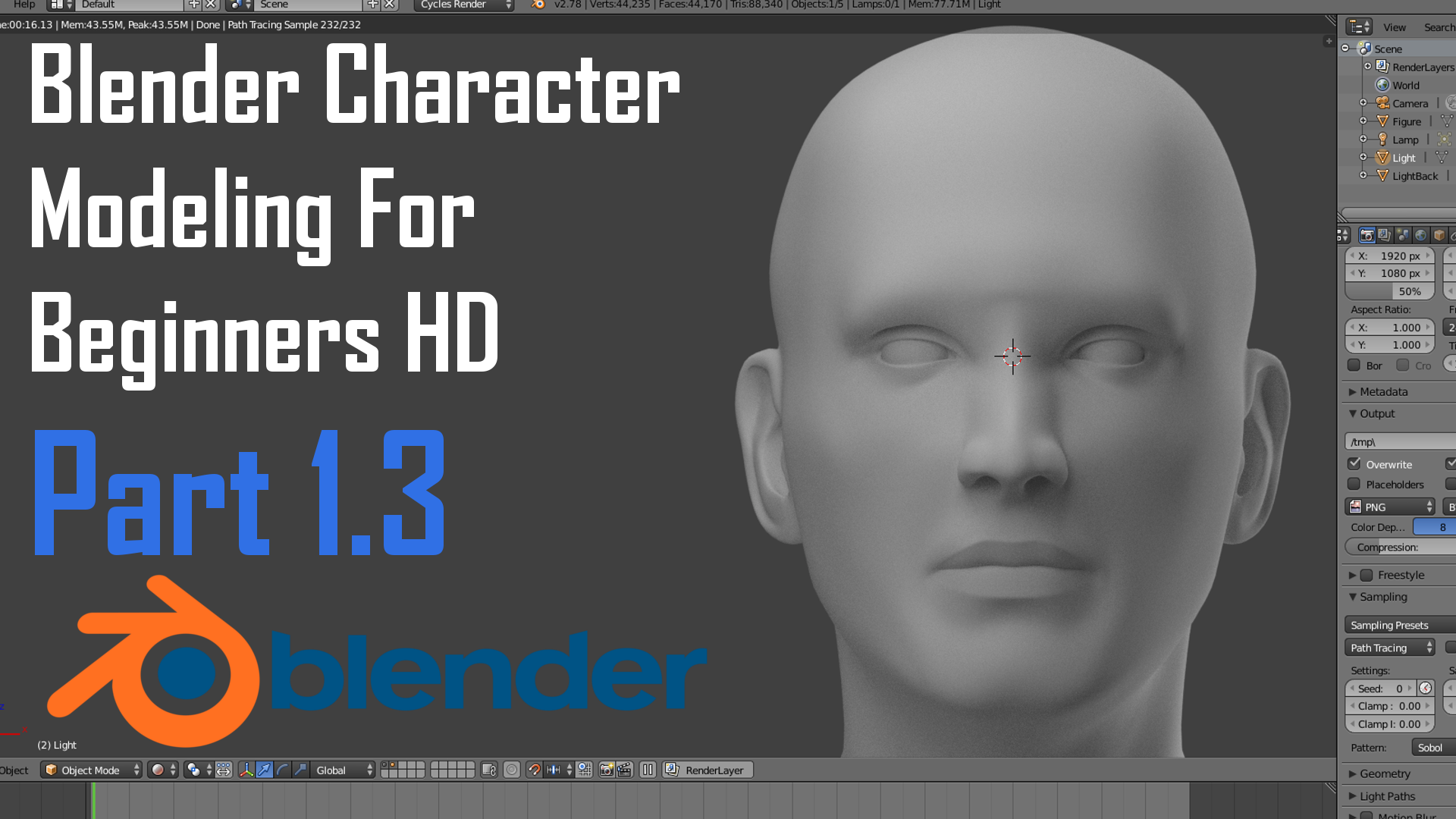 Blender Character Modeling Tutorial Beginner : Tutorial blender character modeling for beginners