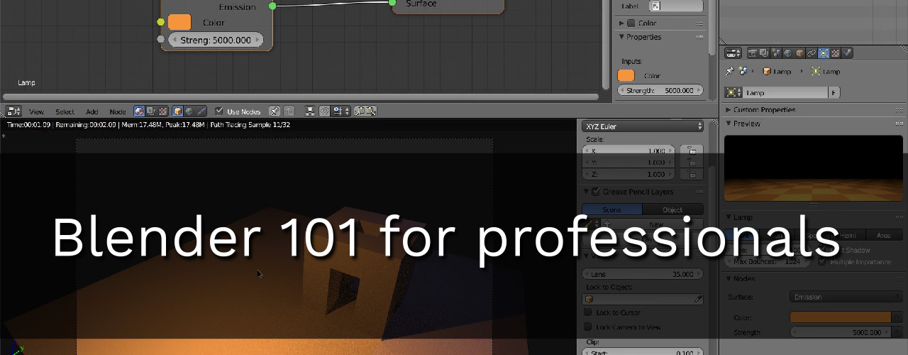 Blender basics for professionals course - BlenderNation