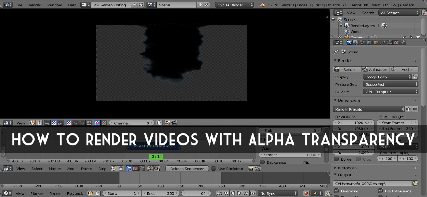 How to Render Videos with Alpha Transparency - BlenderNation