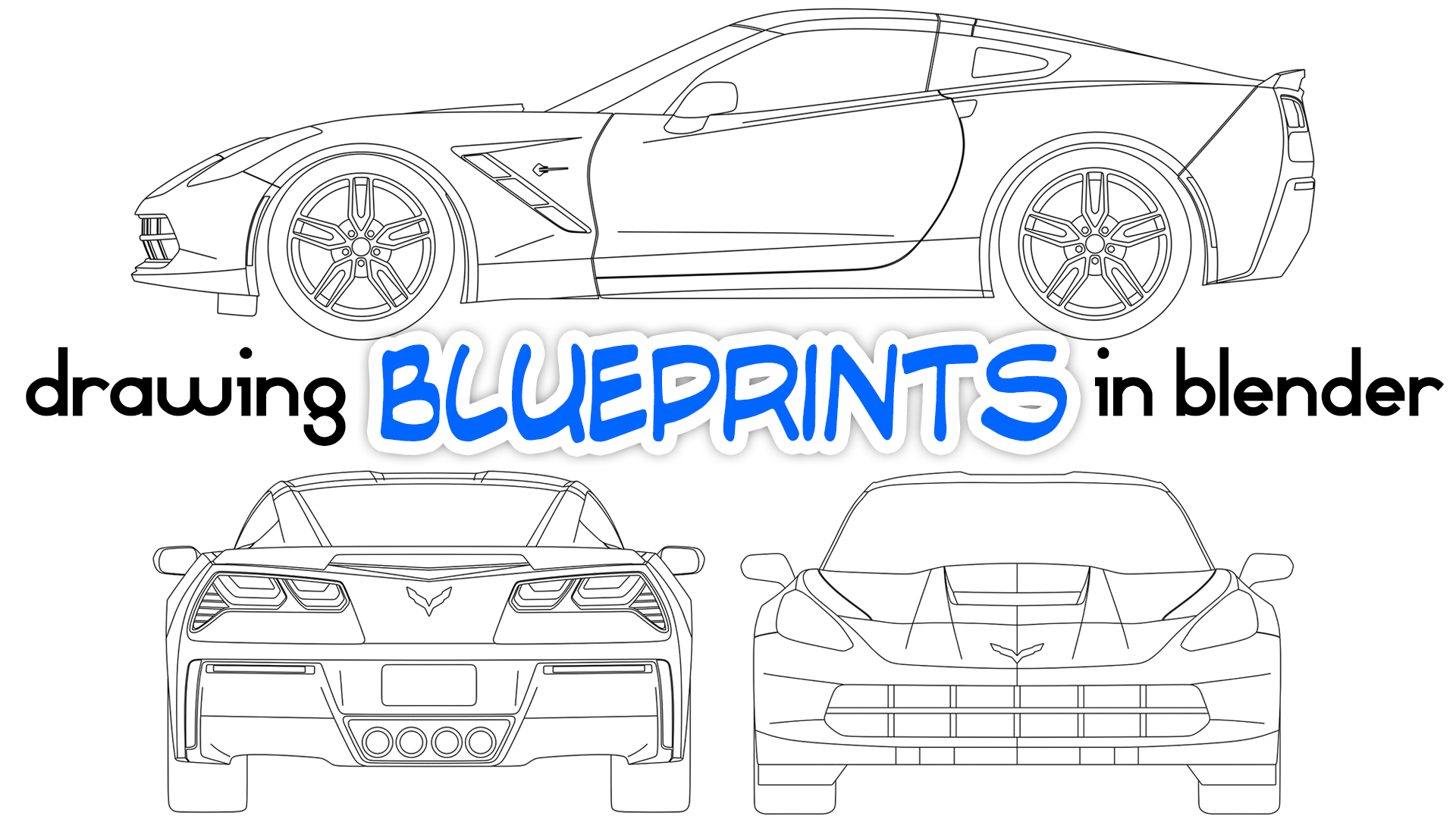 Drawing car blueprints in blender blendernation drawing car blueprints in blender malvernweather Gallery
