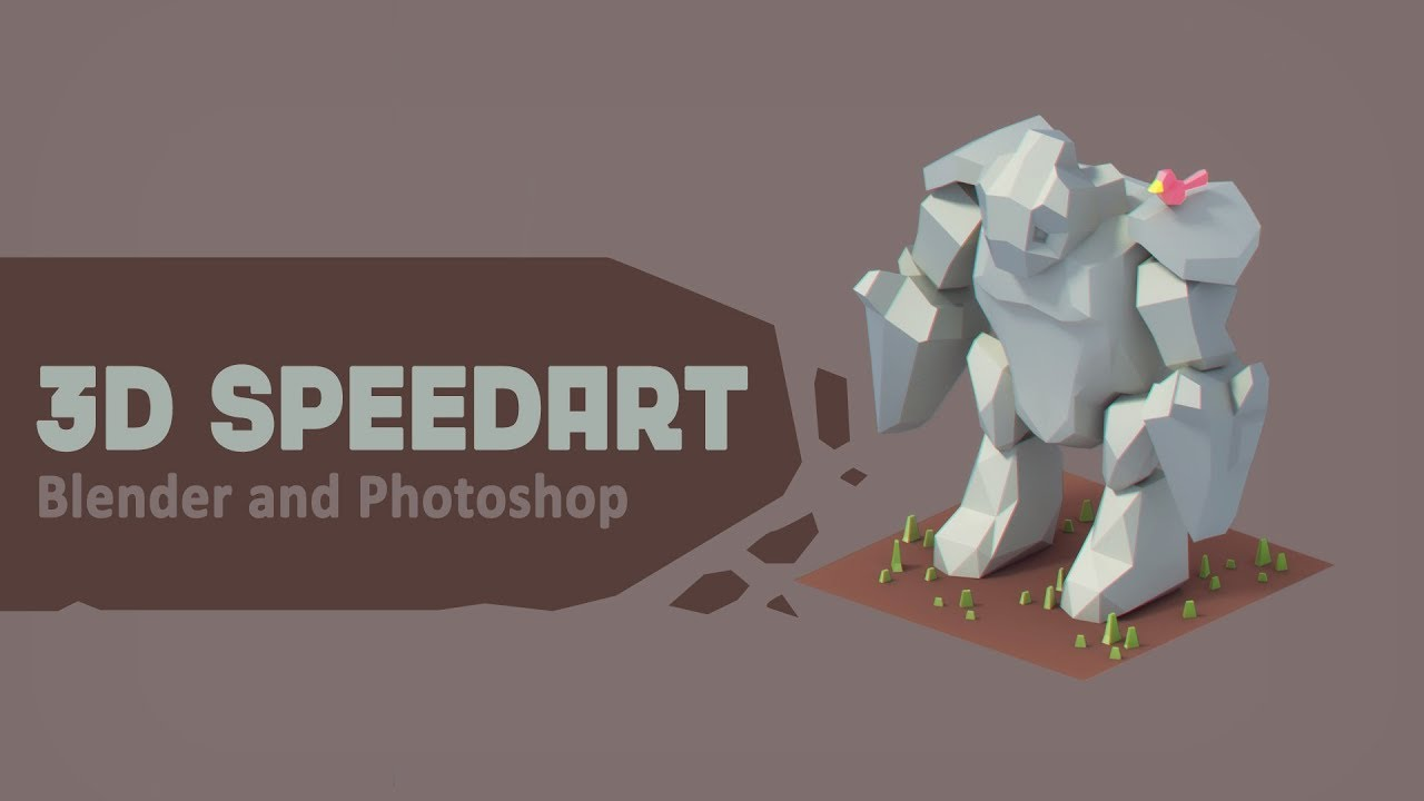 Low Poly Character Modeling Blender : Speed modeling a d low poly golem character blendernation