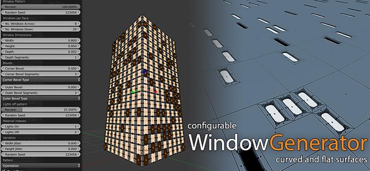 Window Generator Add-On [$] - BlenderNation