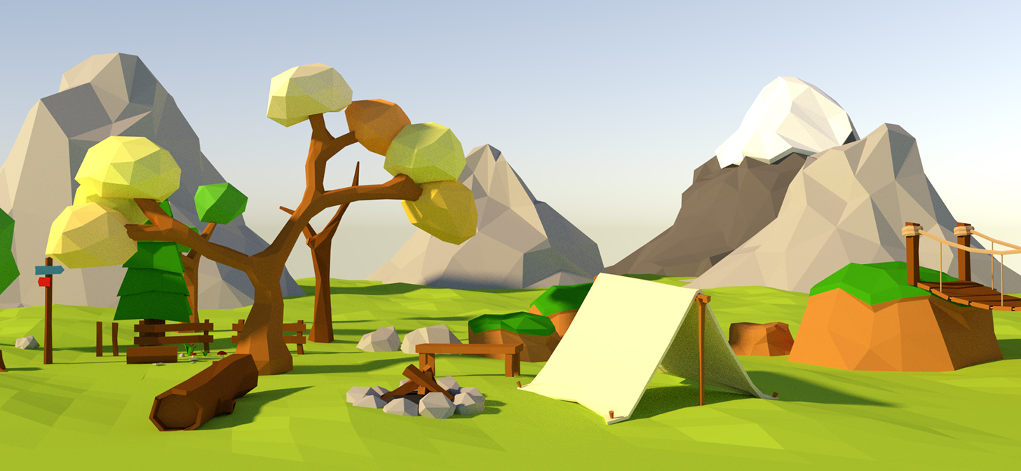 20 000 subscribers: Free Low Poly Assets - BlenderNation
