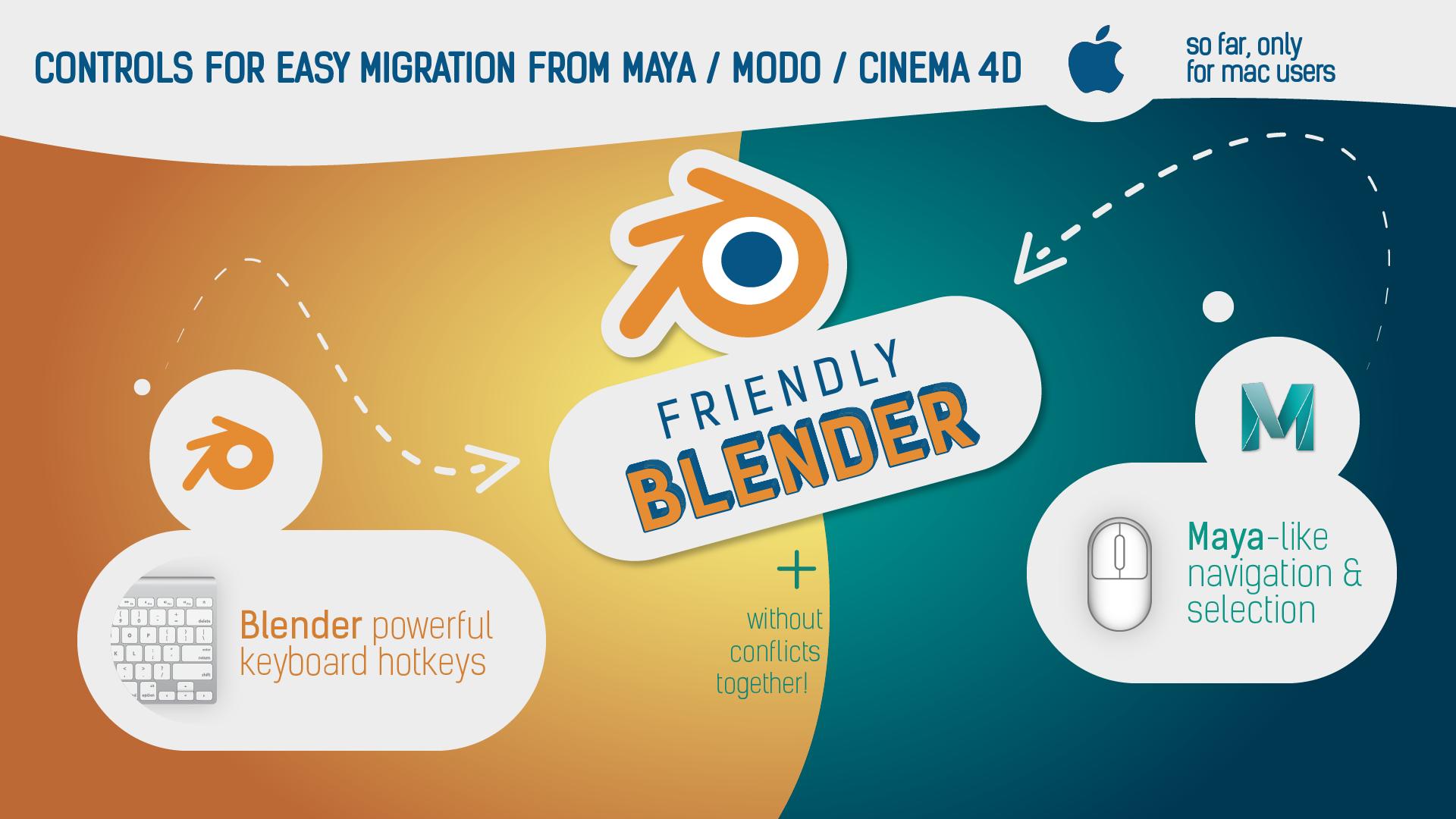 Friendly Blender (Controls for Maya/Modo/Cinema users) - BlenderNation