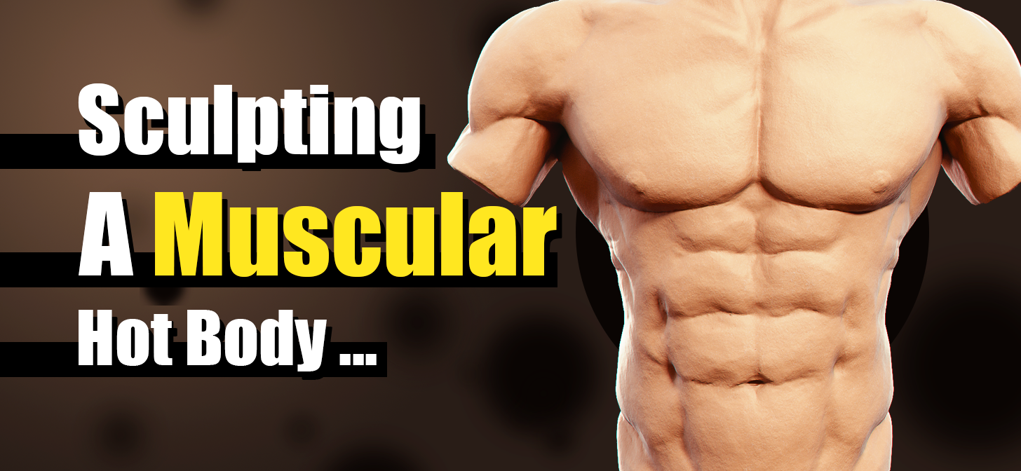 Sculpting A Muscular Body - Commentary/Tutorial Style - BlenderNation