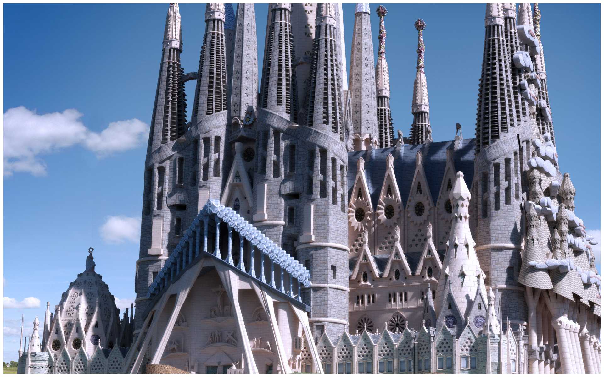 The Gaudi Buildings Of Skaldy Blendernation