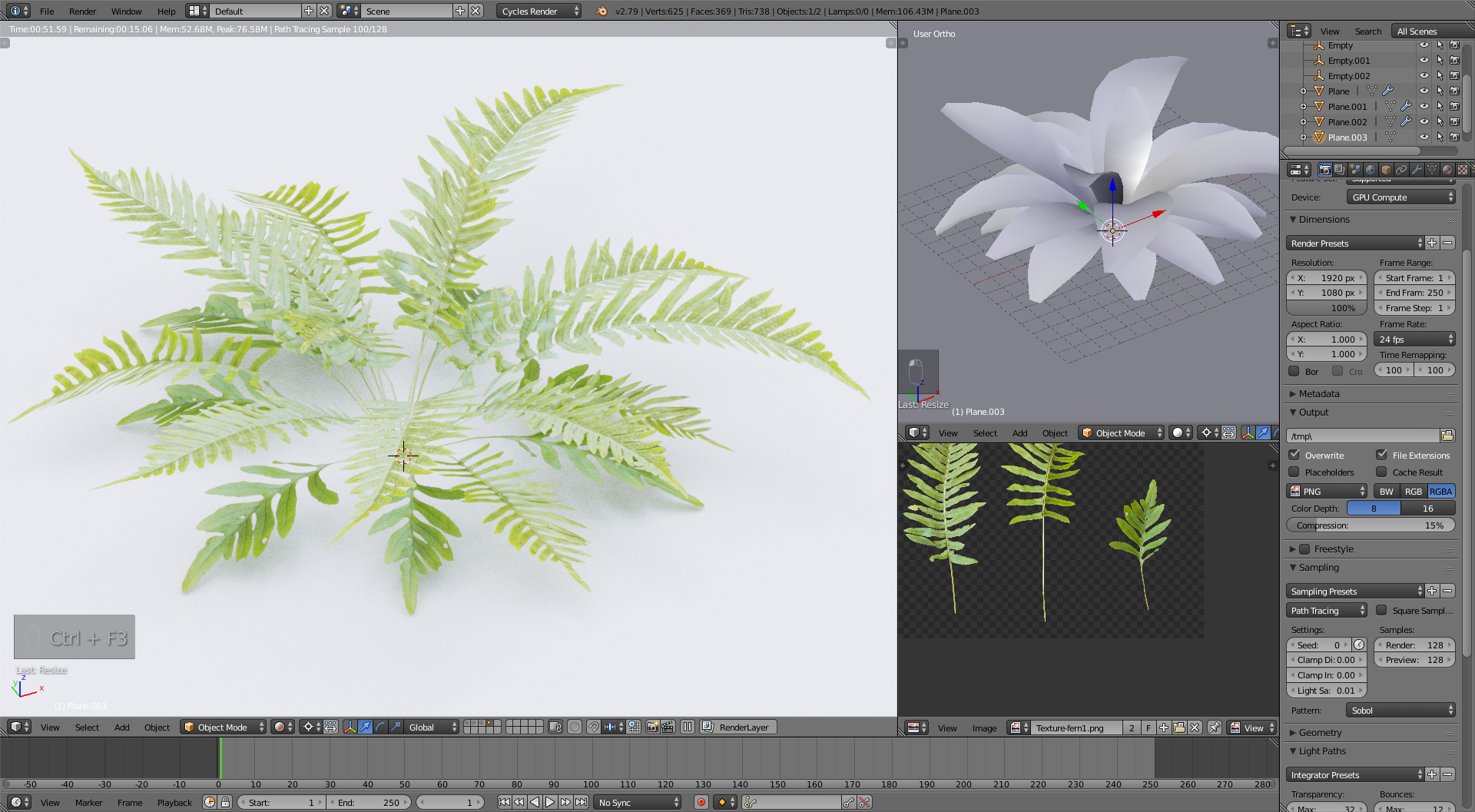 Creating fern lowpoly models with your own textures - BlenderNation