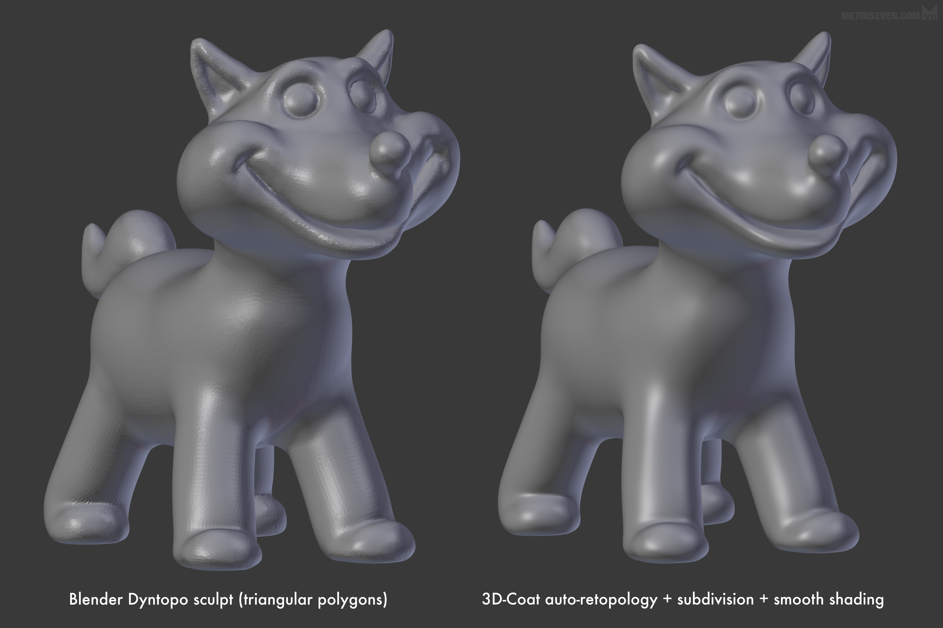 3D-Coat vs  ZBrush auto-retopology comparison - BlenderNation