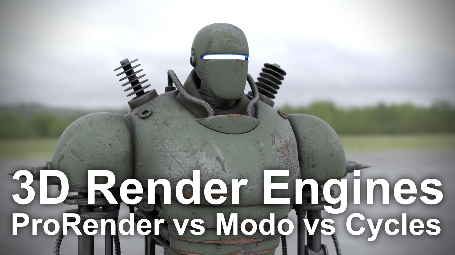 ProRender vs Modo vs Cycles - PBR 3D Render Comparison