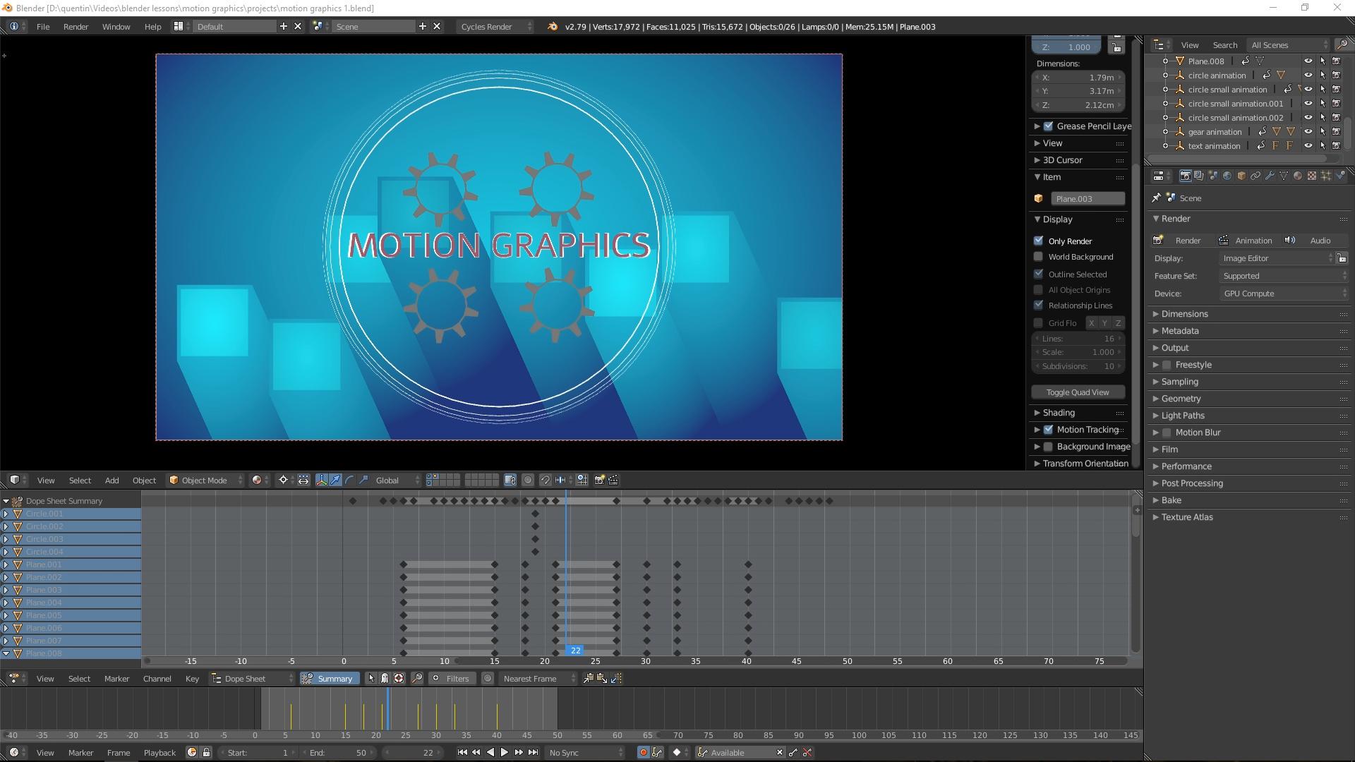 Creating Motion Graphics in Blender - BlenderNation